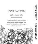 romantic invitation. wedding ... | Shutterstock .eps vector #268665638