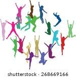 vector handmade silhouettes | Shutterstock .eps vector #268669166
