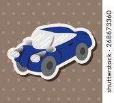 transportation car theme... | Shutterstock .eps vector #268673360