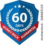 60 days money back guaranteed... | Shutterstock . vector #268683110