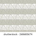 triangles in hatching technique.... | Shutterstock .eps vector #268683674