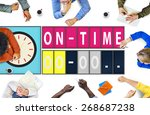 on time punctual efficiency... | Shutterstock . vector #268687238