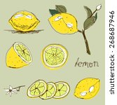 Hand Drawn Set Of Lemons....