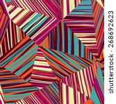 abstract stripe line seamless... | Shutterstock .eps vector #268692623