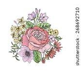 flower bouquet. floral... | Shutterstock .eps vector #268692710