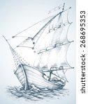 sailboat wallpaper   Shutterstock .eps vector #268695353