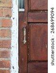 wooden door | Shutterstock . vector #268699094