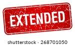 extended red square grunge... | Shutterstock .eps vector #268701050