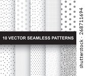 vector seamless patterns | Shutterstock .eps vector #268711694
