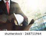 businessman holding... | Shutterstock . vector #268711964