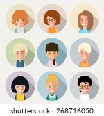 this is a set of cartoon... | Shutterstock .eps vector #268716050