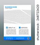 corporate business flyer... | Shutterstock .eps vector #268722620