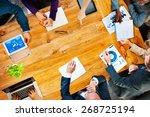 diversity business team...   Shutterstock . vector #268725194