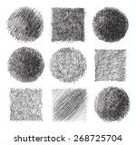 pencil drawn circles.set. | Shutterstock .eps vector #268725704