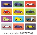 vector set. car icons. | Shutterstock .eps vector #268727369