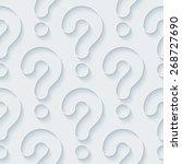 white 3d wallpaper. halftone... | Shutterstock .eps vector #268727690
