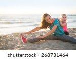 healthy mother and baby girl... | Shutterstock . vector #268731464