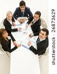 several white collar workers... | Shutterstock . vector #26873629