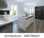 kitchen in modern style. 3d... | Shutterstock . vector #268738664