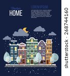 small town. the night. | Shutterstock .eps vector #268744160