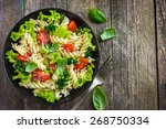 pasta salad with cherry... | Shutterstock . vector #268750334