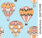 summertime concept seamless... | Shutterstock . vector #268752488