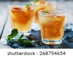 fresh cocktail with orange ... | Shutterstock . vector #268754654