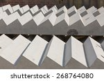tow concrete stairs lay flat... | Shutterstock . vector #268764080