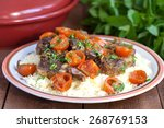moroccan tagine with lamb ... | Shutterstock . vector #268769153