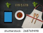 tablet mock up template with... | Shutterstock . vector #268769498