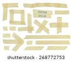 set of various adhesive tape... | Shutterstock .eps vector #268772753