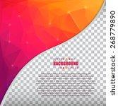 abstract creative concept... | Shutterstock .eps vector #268779890