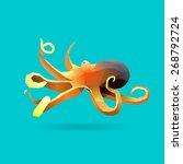 polygonal illustration of...   Shutterstock .eps vector #268792724