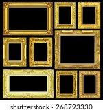 set of golden vintage frame... | Shutterstock . vector #268793330