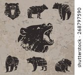 set of different bears with... | Shutterstock .eps vector #268797590