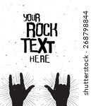 rock hands silhouettes on a... | Shutterstock .eps vector #268798844