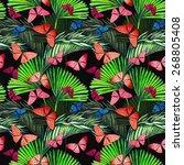 beautiful seamless tropical... | Shutterstock . vector #268805408
