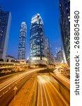 modern office buildings in... | Shutterstock . vector #268805480