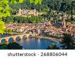 view on heidelberg at summer ... | Shutterstock . vector #268806044