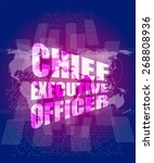 vector chief executive officer... | Shutterstock .eps vector #268808936