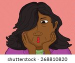 surprised asian woman with... | Shutterstock .eps vector #268810820