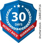 60 days money back guaranteed... | Shutterstock . vector #268813916