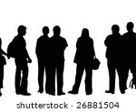 crowd of tourists | Shutterstock . vector #26881504