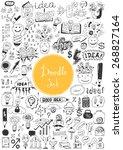 big doodle set   idea  business ... | Shutterstock .eps vector #268827164