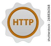 http circular icon on white... | Shutterstock . vector #268836368