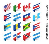 flags of the world  north... | Shutterstock .eps vector #268839629