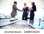 business documents and touchpad ... | Shutterstock . vector #268843634