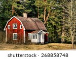 old rural farm  cottage house ... | Shutterstock . vector #268858748