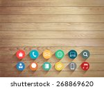 vector wood plank background...