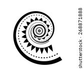 maori style spiral tattoo design | Shutterstock .eps vector #268871888
